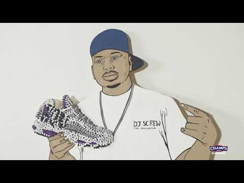 "DJ Screw Nike Air Max 95 ""Houston"" Art Piece by DonkeeBoy! 