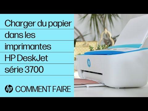 Charger du papier dans les imprimantes HP DeskJet série 3700