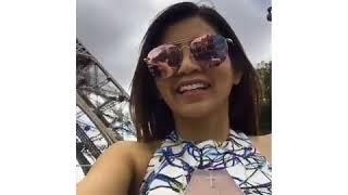 Viral Nih Video Wanita Berbaju Tembus Pandang Di Paris, Netizen  Wah, Menara Eiffel Dekat Gunung