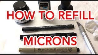 How to refill Microns easily.  Micron Life Hack Use your own quality inks and save money!