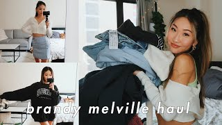 BRANDY MELVILLE SPRING TRY-ON HAUL 🍒 (basic But Cute)