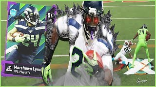 Marshawn Lynch LITERALLY Activates Beast Mode In Madden 20!