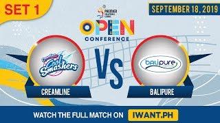 SET 1 | Creamline vs. BaliPure | September 18, 2019 (Watch the full game on iWant.ph)