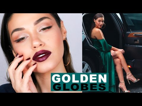 Red Carpet Makeup Tutorial GRWM | My Look for the Golden Globes | Eman