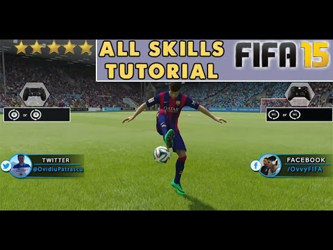 FIFA 15 All Skills Tutorial + New Skill Moves / Listed & Unlisted / Xbox & Playstation