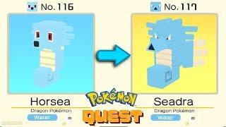 Horsea  - (Pokémon) - Horsea Evolved Into Seadra   Horsea Evolution Pokémon Quest Gameplay Walkthough