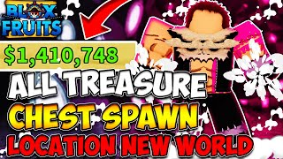 All Treasure Chest Locations (New World) In Blox Fruits
