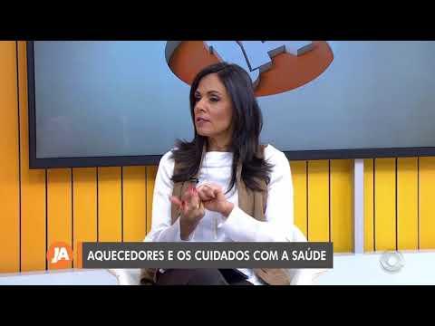 RBS TV – Pneumologista faz alerta sobre uso de aquecedores