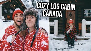 Our Cozy Winter Log Cabin in Canada | Banff, Alberta Road Trip