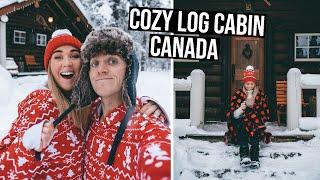 Our Cozy Winter Log Cabin in Canada | Banff, Alberta Road Trip