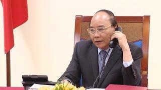 Thủ tướng Nguyễn Xuân Phúc điện đàm với quyền Tổng thống kiêm Thủ tướng Hàn Quốc Hwang Kyo Ahn