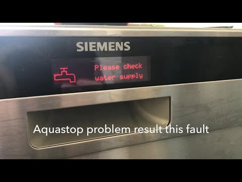 How to change/replace AquaStop hose on Bosch/Siemens dishwashers