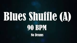Chicago Blues Shuffle Backing Track For Drummers + Guitar Solo (NO DRUMS)