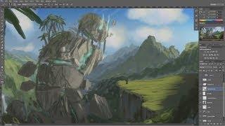 13. Photoshop Tutorials - Matte Painting Walkthrough Part 1