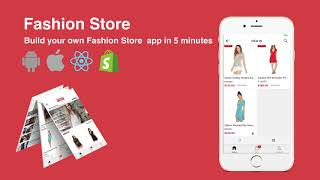 Demo: Fashion Store - Elegant React Native App Template For Shopify Clothing Store