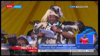 NASA Co-leader Musalia Mudavadi lobbies his parties manifesto at the Luhya community meeting