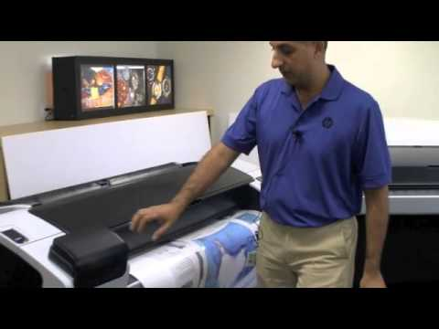 HP Designjet T790 and T1300 Walk-Around