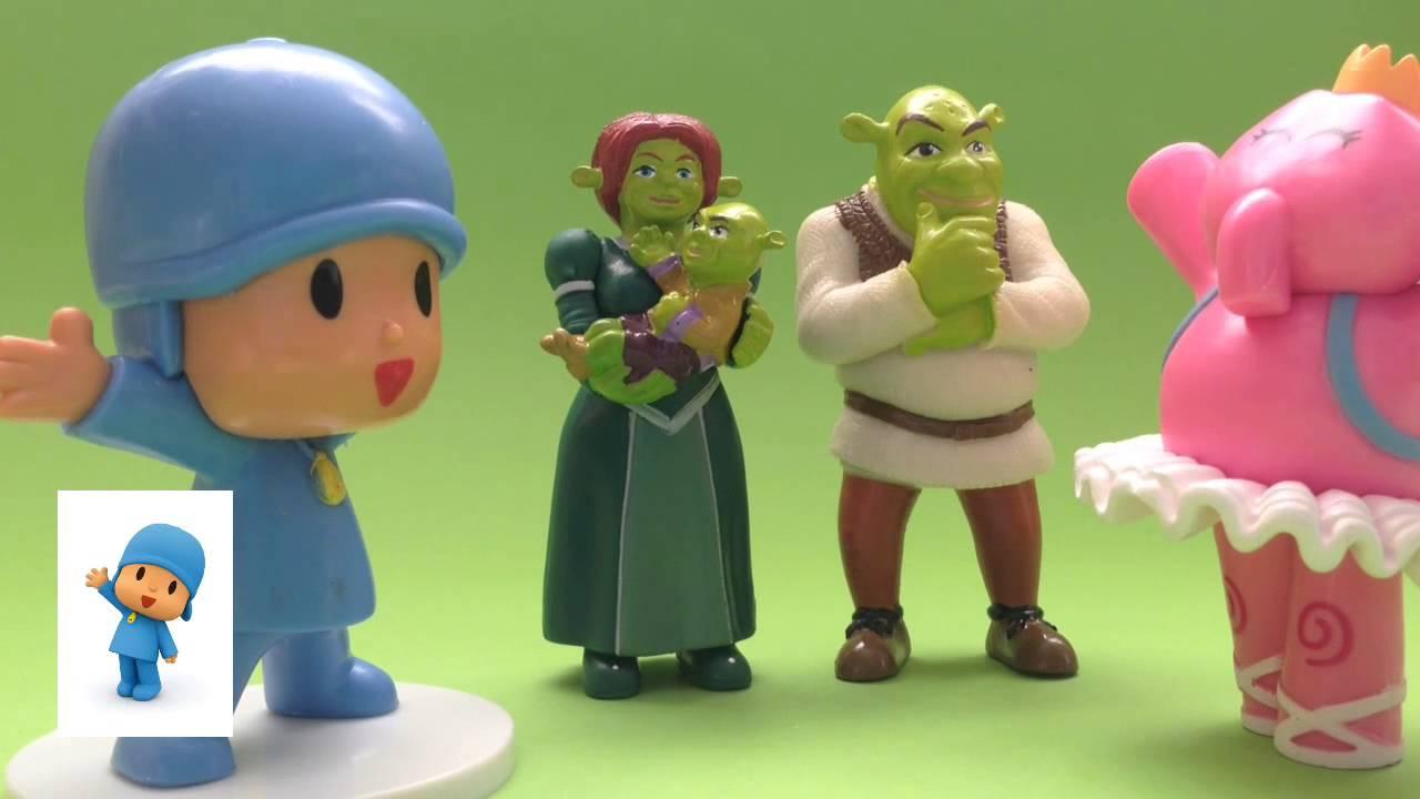Pocoyó y Shreck cantan una canción de ogro.