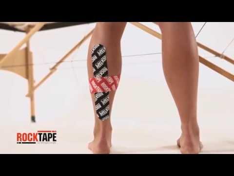 RockTape - Тейпирование задней поверхности голени
