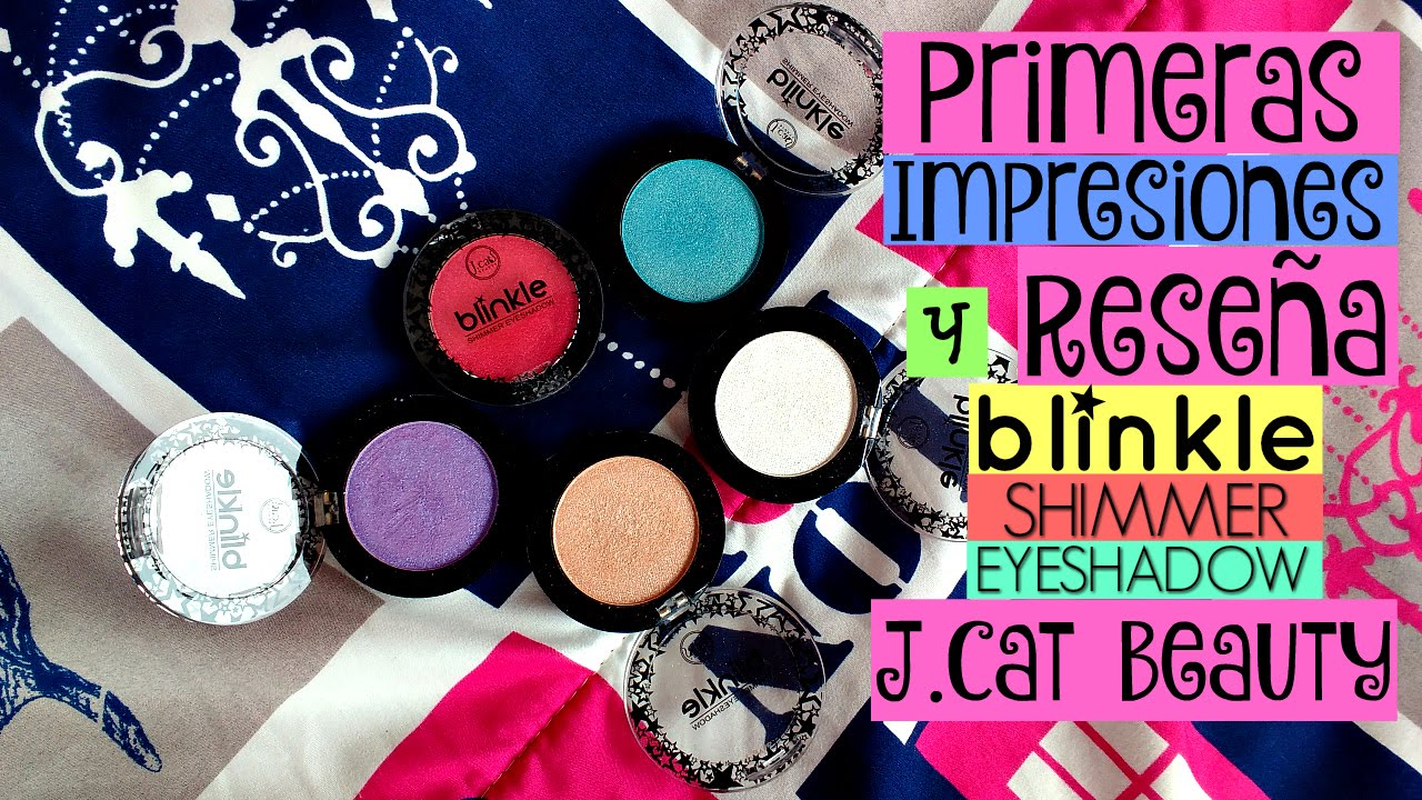 Demelza Makeup - Primeras impresiones/Reseña - Blinkle Eyeshadow de J.Cat Beauty