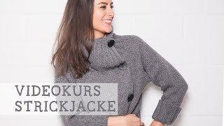 """Strickkurs: Strickjacke """"Jade"""" mit Webeffekt stricken"""