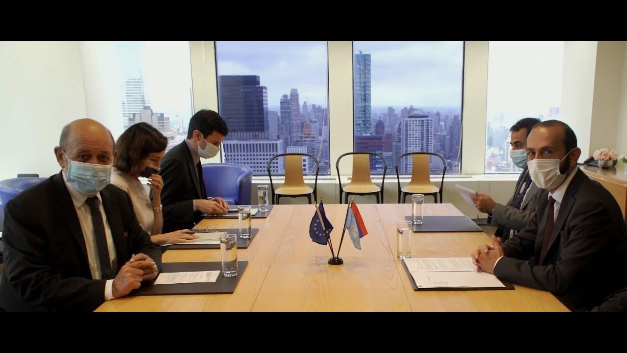 Главы МИД Армении и Франции обсудили перспективы урегулирования карабахского конфликта