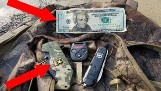 KNIVES AND MONEY FOUND IN LOST BACKPACK! River Treasure Found! - Video Youtube