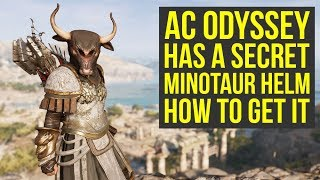 Assassin's Creed Odyssey Secret Armor - Minotaur Helm HOW TO GET IT (AC Odyssey Armor)