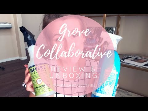 Grove Collaborative Review and Unboxing//Natural Cleaning Products//My HONEST Opinion