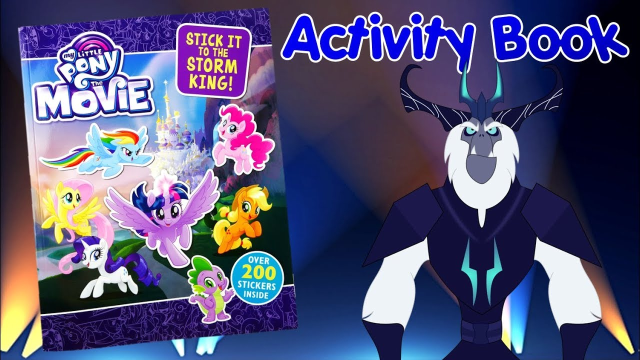 My Little Pony The Movie 2017 Sticker Activity Book Stick it to the Storm King