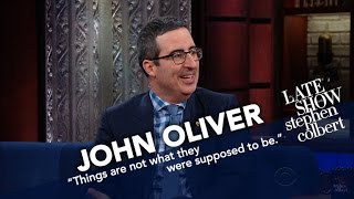 Last night John visited The Late Show with Stephen Colbert to talk