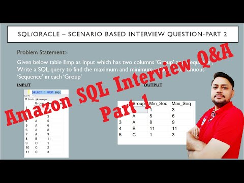 SQL Interview Questions and answers Part 2 | Amazon SQL ...