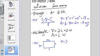 Perimeter and Area of Common Polygons