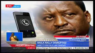 Exclusive: CORD Leader Raila Odinga explains the gun battle incident that stopped his rally