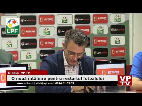 O nouă întâlnire pentru restartul fotbalului