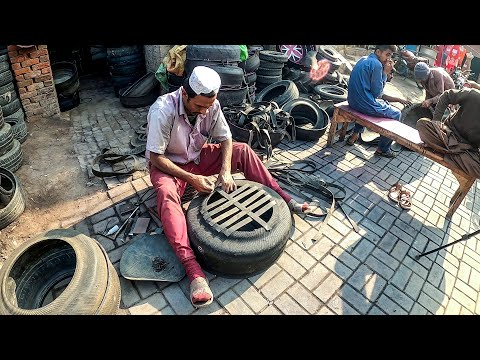 Brilliant Idea of Making a Stool from Old Tires