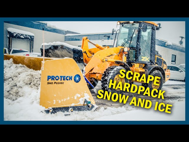 Scrape hard pack snow. No restrictions. - Pro-Tech Steel Edge Sno Pusher