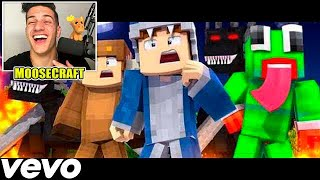 REACTING TO ♫SQUADS PLAN - Minecraft Parody of Gods Plan by Drake (Music Video) ♫