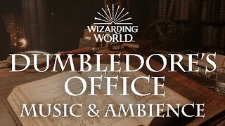 Harry Potter Music & Ambience | Dumbledore's Office – Office Sounds for Sleep Study Relaxing