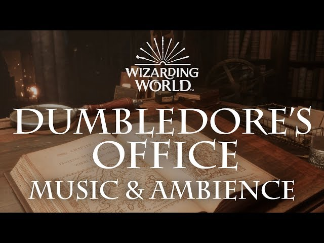 Harry Potter Music & Ambience   Dumbledore's Office - Office Sounds for Sleep, Study, Relaxing