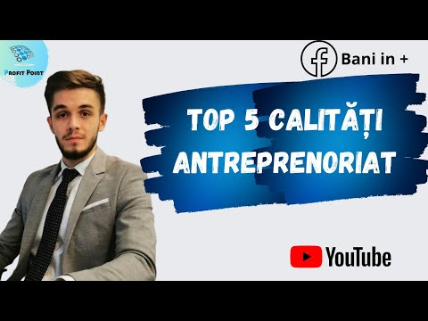 TOP 5 CALITĂȚI ANTREPRENORIAT - 2021