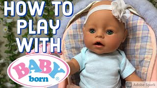 How to feed, change, bathe, and play with Baby Born Dolls! Everything to know