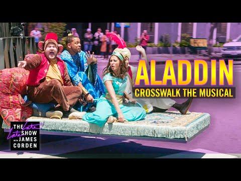 ويل سميث ومينا مسعود ونعومي سكوت ينقلون Aladdin لشوراع لوس أنجيلوس