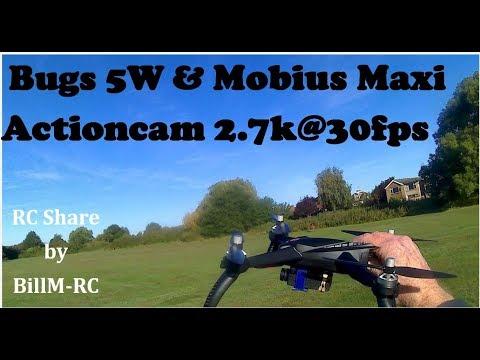 Bugs 5W with Mobius Maxi 2,7k camera flight