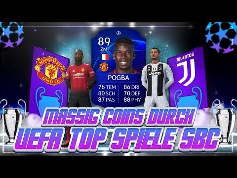 FIFA 19: MASSIG COINS DURCH UEFA TOP SPIELE SBC MACHEN 😱 UEFA SBC TRADING TIPPS