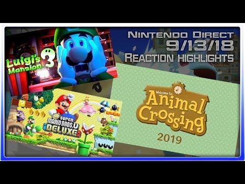 AC SWITCH AND LUIGI'S MANSION 3!!! - Nintendo September Direct REACTION (видео)