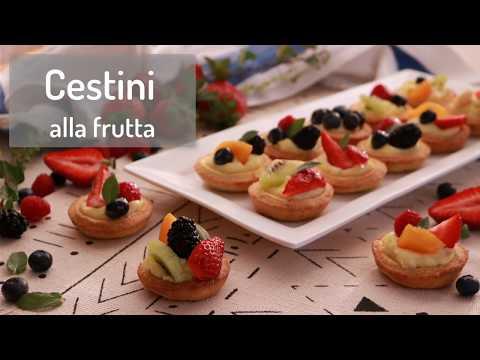 CESTINI ALLA FRUTTA😋| Ricetta facile e veloce | Lorenzo in cucina | fruit pastries