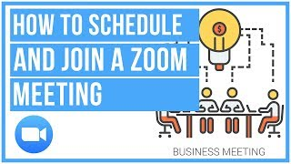 ⚙ How To Schedule And Join A Zoom Meeting