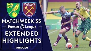 Norwich City v. West Ham | PREMIER LEAGUE HIGHLIGHTS | 7/11/2020 | NBC Sports