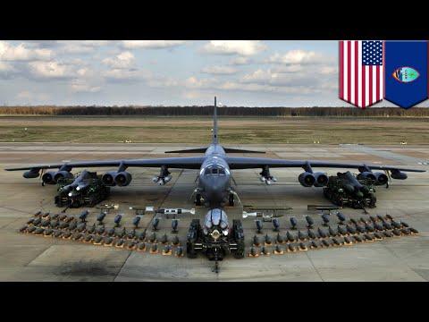 Boeing B-52: Six B-52 Stratofortress aircraft deployed to Guam - TomoNews